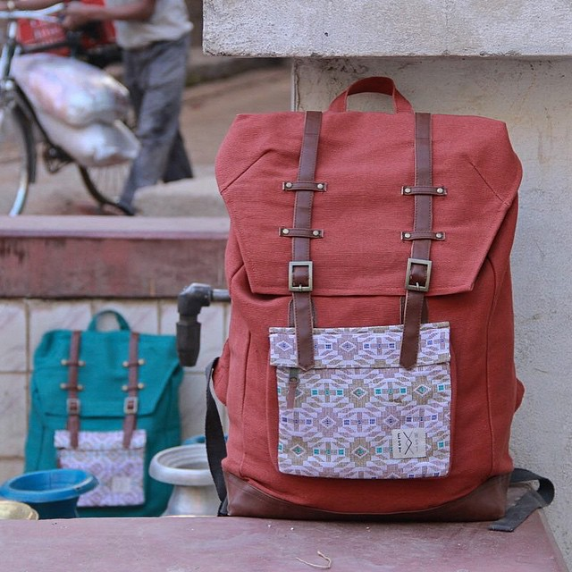 Only a couple pieces left in our bamboo rust with dhaka pocket. #conscumecosciously #connectglobally #original #authentic #handwoven #traditional #bamboo #sustainablestreetwear #rucksack