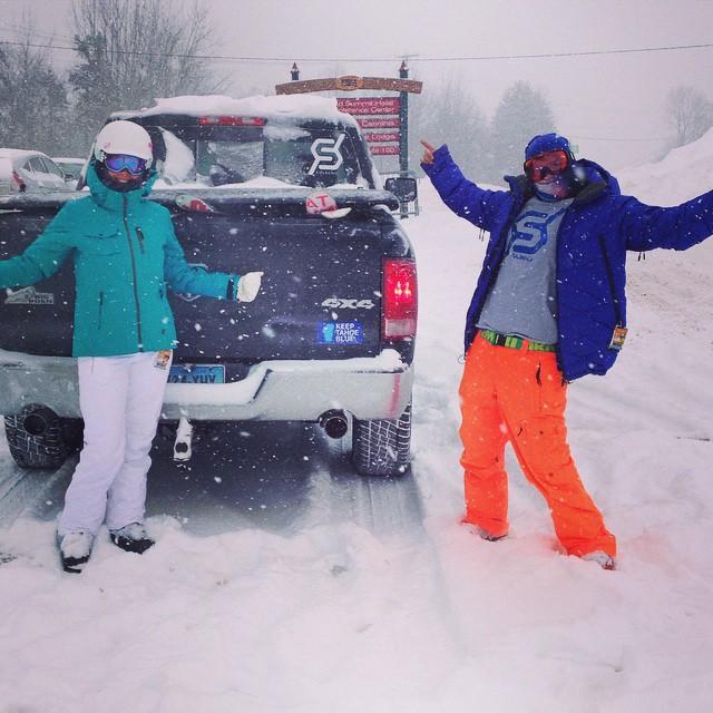 #powder #JustSendIt #mountsnow @zayjmad191 @kateemcneil #sendit #dumping #skiing #snowboarding #powderday #atomicskis #k2skis @outdoorsportscenter #mountainlife #hashtag @chrisbenchetler #vermont #ramtrucks
