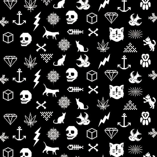 Collage UR #collage #pixel #pixelart #urbanlife #pixelwear #cat #skull #fish #pattern