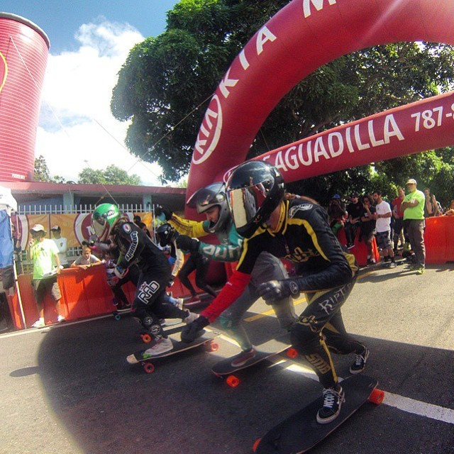 #Guajatacadownhill Women Podium! 1. @emilylongboards  2. @spokywoky  3. @nayhomi27  Congrats to all the ladies who killed it!  Repost from Spoky. @kylewesterskate photo  #longboardgirlscrew #girlswhoshred #downhill #emilypross #spokywoky #mariebougourd...