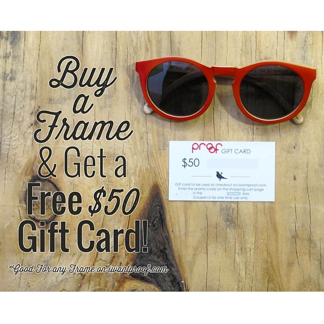 BOGO Valentine's Day Special!  Buy one frame & get a $50 gift card with your order good for any frame at iwantproof.com! Sale runs now until Valentine's Day!