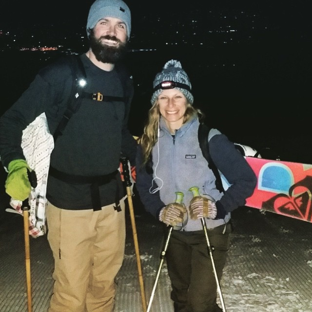 The harder the work, the sweeter the reward which equaled soft fresh corduroy in this instance! Had fun climbing up #Arrowhead last night with @anoahbomb87 @mcelberts @a_bowl_of_rice @mearl726 // Also Mike is stoked on his new custom #GoodPeople bamboo...