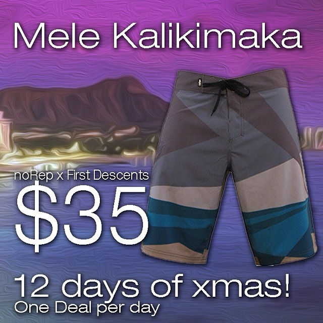 12 days of Xmas special! Limited quantities get them while they last! norepboardshorts.com/xmas #surf #hawaii #xmas #norepboardshorts