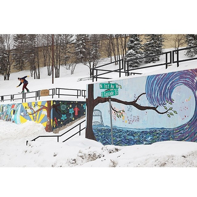 Nice Front Board #Regram from @tommyshredd out in #Minnesota Photo