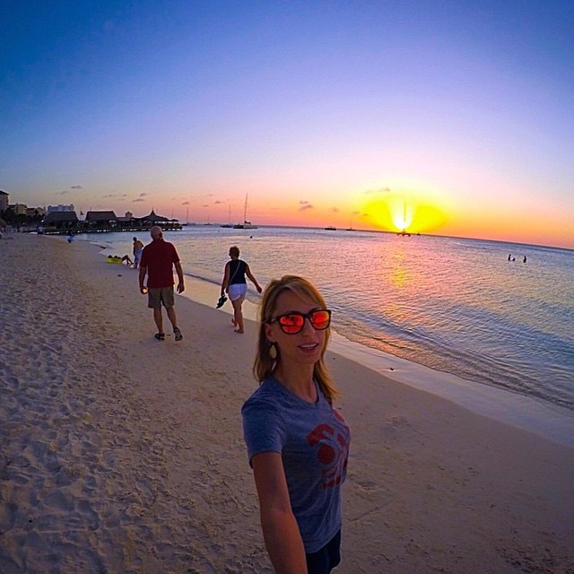 #ThisIsMyBeach | Sunsets in Aruba are better while wearing Lava •• Kameleonz.com #Kameleonz #EnjoyTheRide #LifesABeach #Sunnies #Beaches #Travel #Tuesday #Afternoon #Relaxing #Aruba #Lava pic by @stacefaceb
