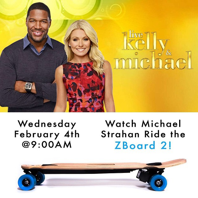 Be sure to check out the ZBoard 2 on Kelly and Michael tomorrow morning at 9AM!