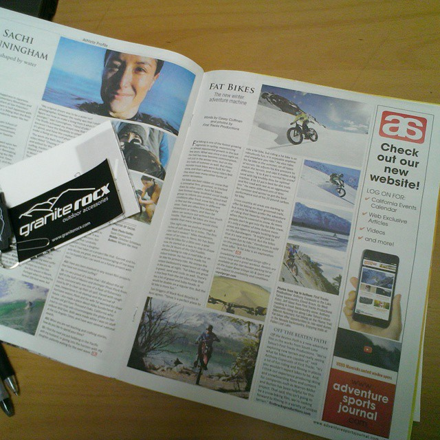 Congrats to First Tracks Productions for their #fatbike article in Adventure Sports Journal!  #firsttracksproductions #adventuresportsjournal #tahoe