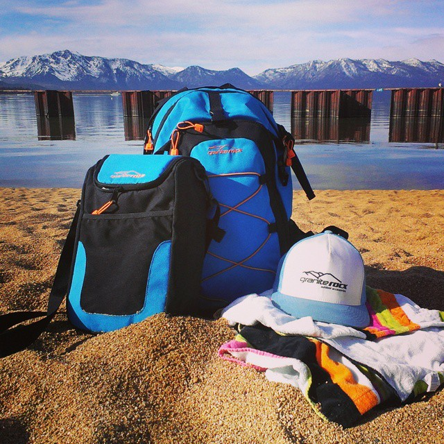 Happy Super Bowl Sunday!  There is still time to get outside before the game.  #SuperBowl #cascade #getoutside #beach #graniterocx #backpacks #coolers #truckerhats #tahoe #southshore