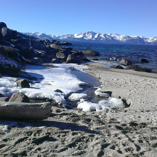 Enjoying the last days of 2014 out and about.  Where are you adventuring this weekend?! #tahoe #beach #tallac #sunnyskies #graniterocx