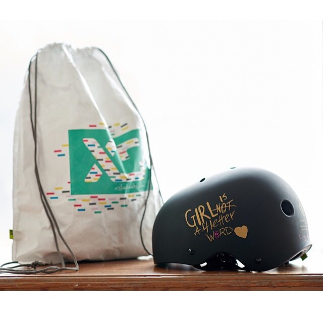 Sweet deal for Valentine's Day! Orders placed before Feb 14th for the @xshelmets x @girlisnota4letterword collab skate helmet will include an XS backpack. Backpack is perfect to carry your helmet, is lightweight and has a #3M reflective ink graphic...