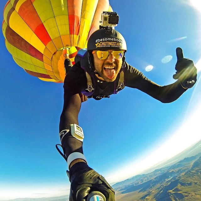 Hot air balloon skydive. Photo: @ducpower89 #gopro #gopole #gopolereach #skydiving #hotairballoon