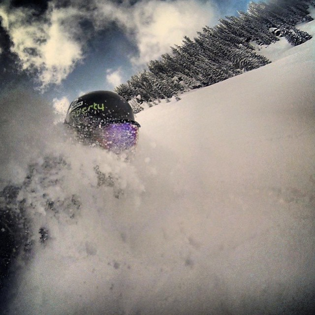 The snow has returned to Colorado and @dougtheskier has found it. #embracethestorm