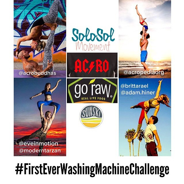 Our AcroYoga pals are hosting a giveaway challenge and guess what you can win - Sunskis!! Head over to @brittarael's profile [or any of the profiles tagged in this pic] to read the guidelines for their #FirstEverWashingMachineChallenge