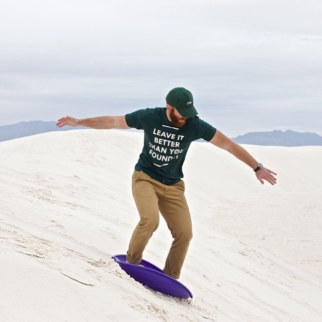 Our friends @she_explores and @thevanman are currently on the road traveling North America in a camper Sprinter van and visiting tons of #radparks! Check out this awesome photo story on our Field Notes from their trip to White Sands National Monument...