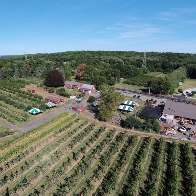 Hello #DJIcreators! My name is Jody, @GlideByJJ I'm the guest #FemalePilot of the day!  This photo was taken at Sun High Orchards in Randolph NJ. I was fortunate enough to meet the son of the man who started this farm in 1945.  He was excited to see me...