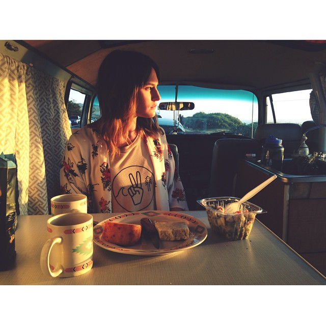 Vanlife sunset with Tribe journey women @elizasloane and our women's Unity tee