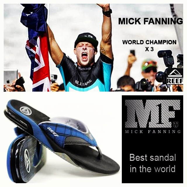 Mick Fanning Campeón ASP 2013! #pipe #surf #sandals #2013 @reef_usa @mfanno