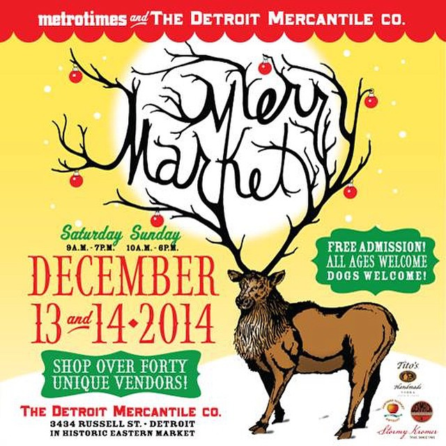 Come check us out at the Detroit Mercantile co. Merry Market this weekend.