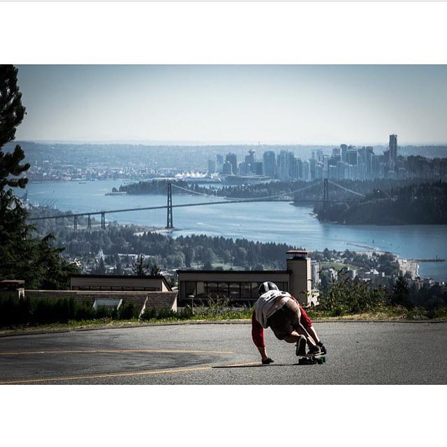 #throwback to #predatorteam rider @mikefitter railing a left somewhere in the hills of Vancouver. Photo: @adnanzare #predator #dh6 #downhill #originalpredatordesign #vancouver #mountains