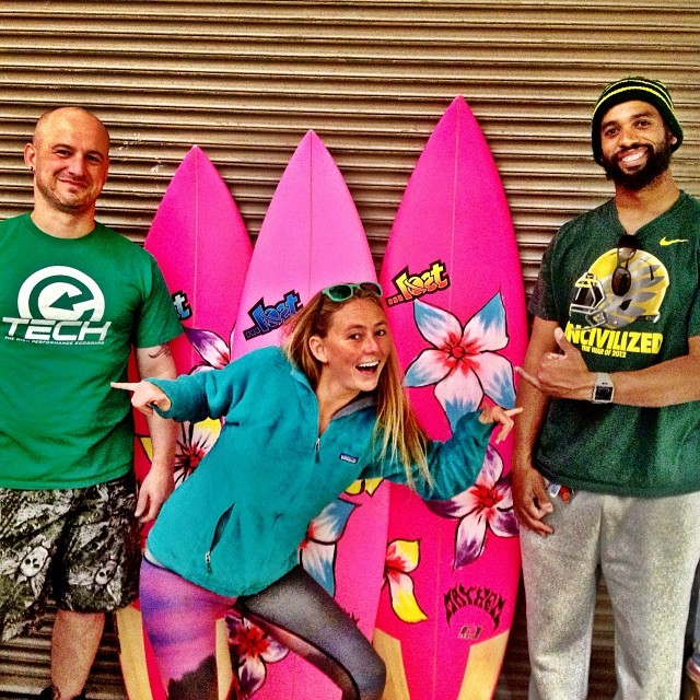 Sooooo stoked to be at @etechboards picking up my new #ecoboards !!! Thankful to @mayhemb3_mattbiolos for these beauties with Ryder's epic flowers! @podunksurfer @etech_todd @lostsurfboards @teekigram @patagonia