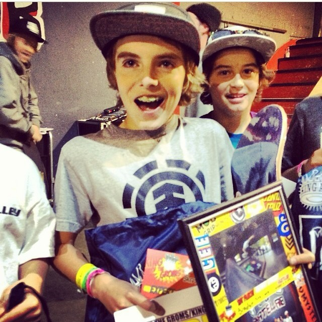 RegrAm @skatelab #bigcongrats to @bradenstelma for winning #kingofthegroms #kotg #skateboarding #grom #ripper