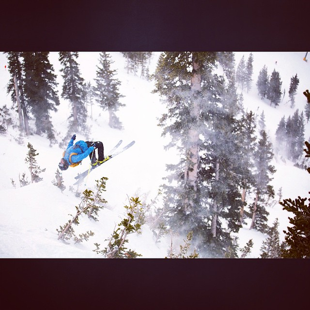 @camsquatch sending a large backy today on west baldy @snowbird in the @freerideseries #kittenfactory