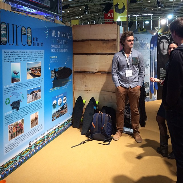 Talking fishnet skateboards @ISpoMunich today in the Brands for Good section...cruise by! #netstodecks #vivabureo