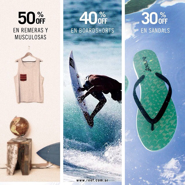Summer online sale en www.reef.com.ar solo por hoy 6/2 -  #summersale @reefargentina #remeras #musculosas #boardshorts #ojotas *30% Off en Sandals : Categoría 1)Guys – Sandals -  http://www.reef.com.ar/guys/sandals.html 2) Girls - Sandals -...