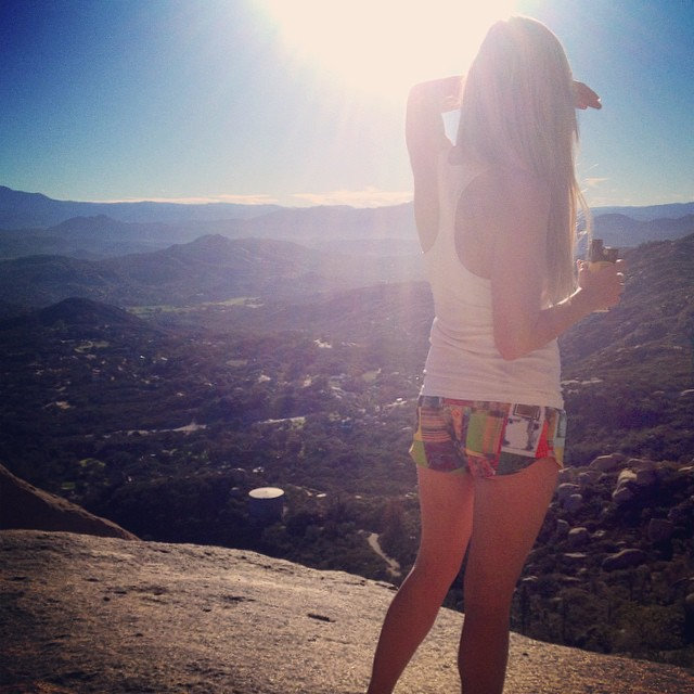 @aclauson88 in the @artofboard #shortboarder #shorts for a #sunrise #hike to #potatochip #rock #sd! #available soon on shop.odinasurf.com email info@odinasurf.com to preorder!