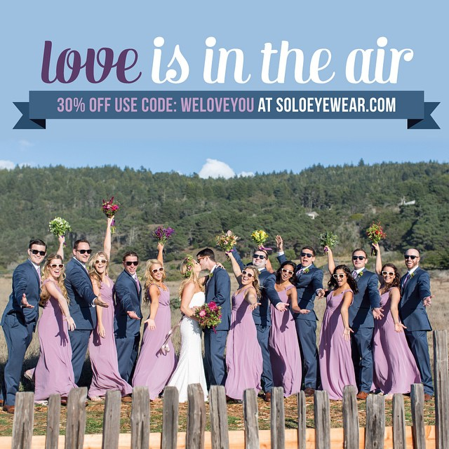 Cat's out of the bag... We Love You! With V-day right around the corner, we wanted to share the love. Visit www.soloeyewear.com and use promo code WELOVEYOU for 30%off. #soloeyewear #sunglasses #valentinesday #bamboo #missiontogive