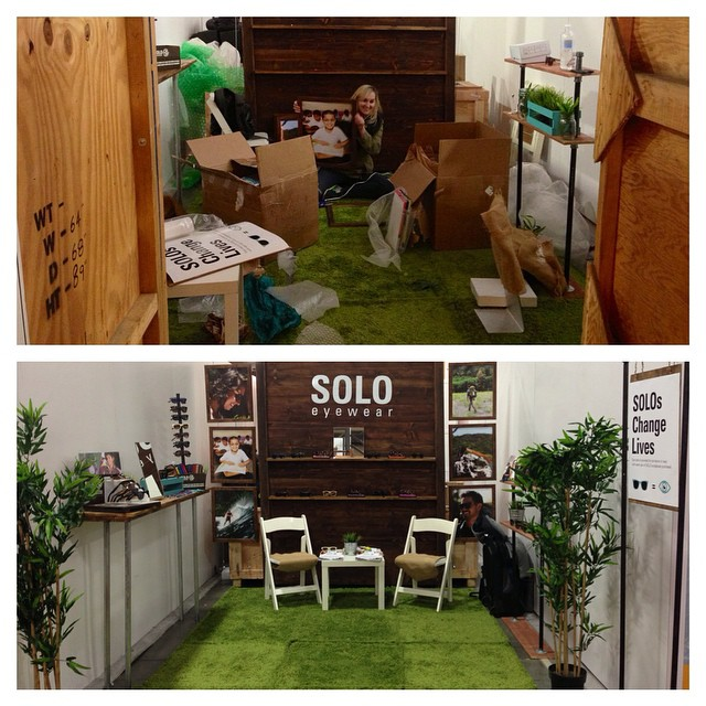 We're holding it down at Outdoor Retailer in Booth 15041! Here is some before and after action... More pics to come!