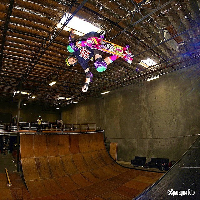 @sparagram snapped a rad one of @staabpirate1 today at Tony hawk's ramp! So sick ! #skateboarding #halfpipe #kevinstaab #backsideollie #dansparagna #birdhouseskateboards #s1helmets #skatevert