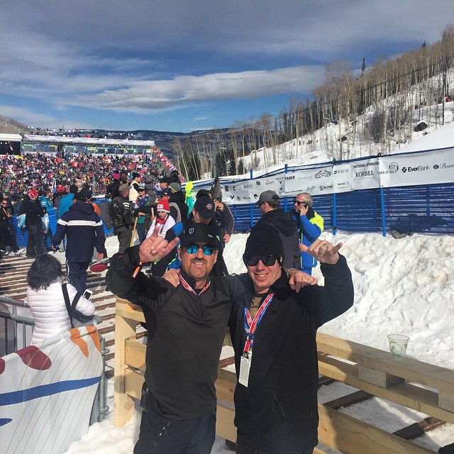 All smiles at #Vail2015 as @travisganong sits in 2nd Place w/ @squawalpine at @beaverCREEK