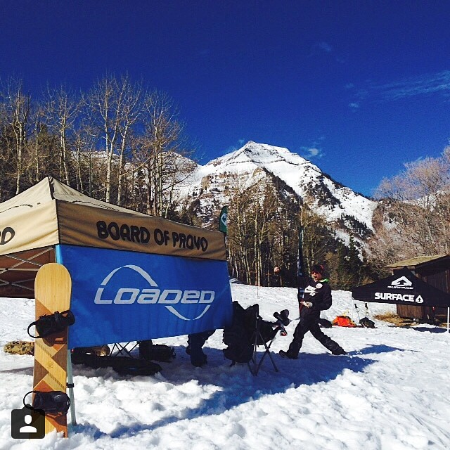@loadedsnow is posting up at the #sundanceskiresort terrain park with @board_of_provo and @surfaceski Stop by and hit the rail for some swag. Follow us @loadedsnow #loadedsnow #Algernon