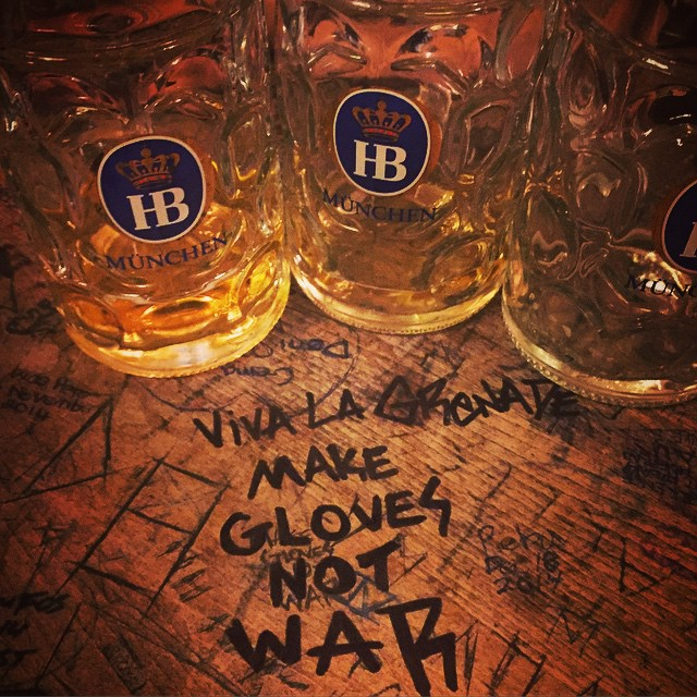 With gLove From Germany. To all our friends across the globe we say PROST!!!