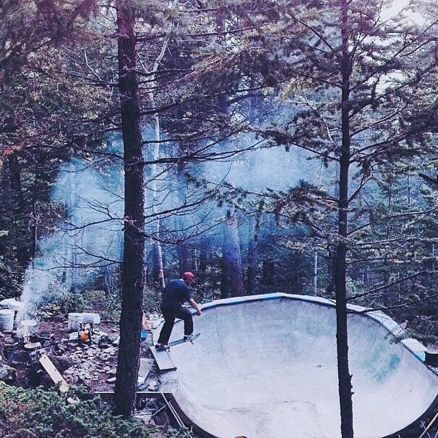 Backwoods spots are the best. #SkateTheEdges