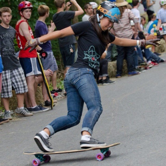 @cindyzskates getting sideways at the Central Mass Jam earlier this year! Stylin! PC: Christian Barnard