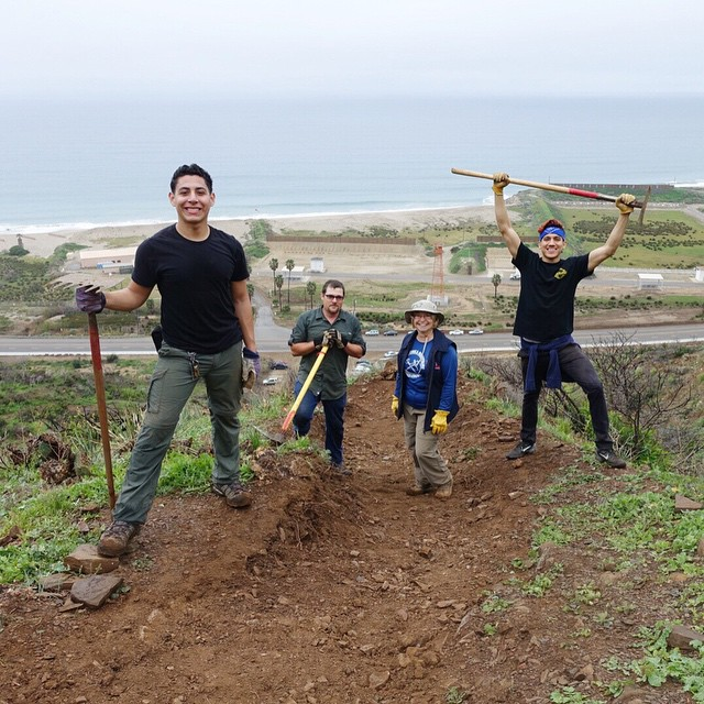 Big thanks to the awesome volunteers who helped us on the Chumash Trail Maintenance Project in the rain! You all made a huge difference today!