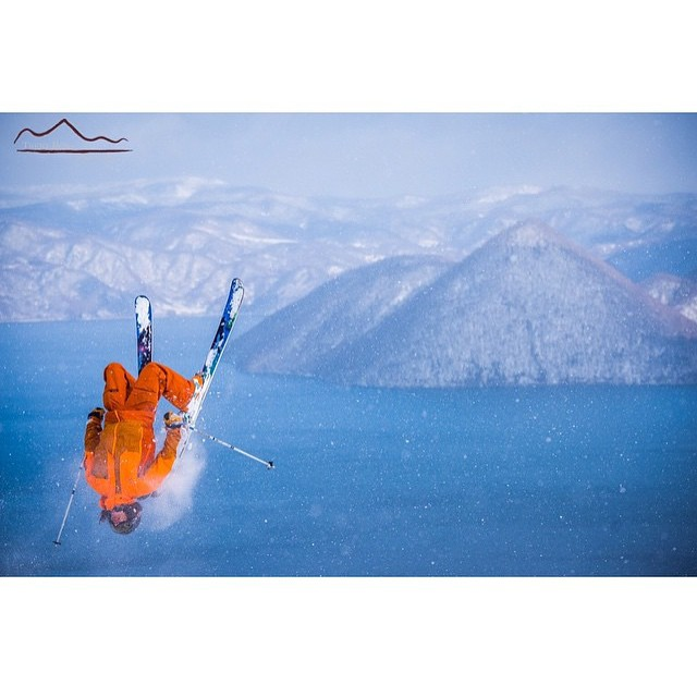 @mattevans95 launching over lake Toya in that orange #TrewBeast and bibs!