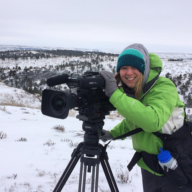 "@montanastateuniversity Masters student Abby Huetter (@abbahoot) begins work on a film that will follow ASC's Landmark project and its volunteers. ""Progress cannot be achieved without the human experience of a grand adventure,"" she says of the project...."