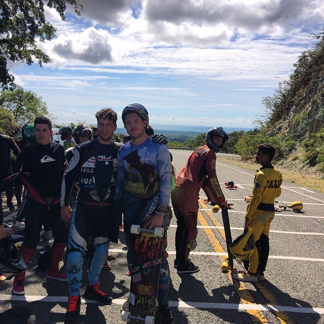 Open heats under way at Lago Cerillo downhill 2015! Here's @kylewesterskate and @Davidapplecheerios thugging hard at the top waiting for their heat! #lagocerrillo