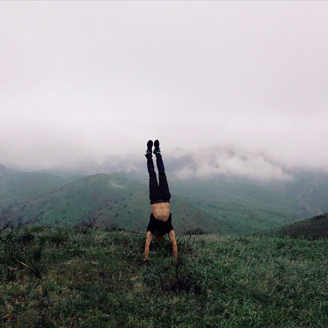 Handstands for #radparks with @juraseghk_panch captured by @dreasobieski after our hard work on the Chumash Trail Maintenance Project yesterday!