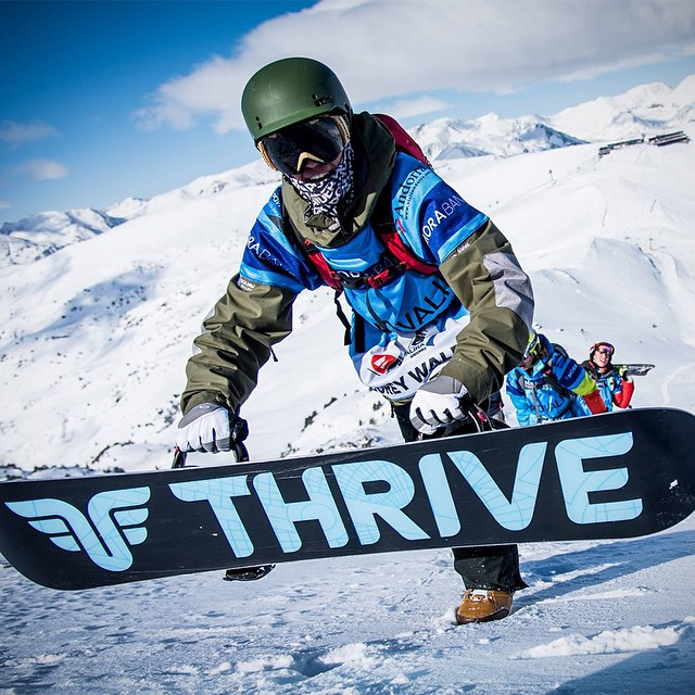 @corey_walewski sent us this shot of him and his #Relentless at the Freeride Junior World Championships in Andorra. Always good seeing Thrive around the world. #thrivesnowboards #thriveeurope #fjwc #snowboarding #freeride #earnyourturns