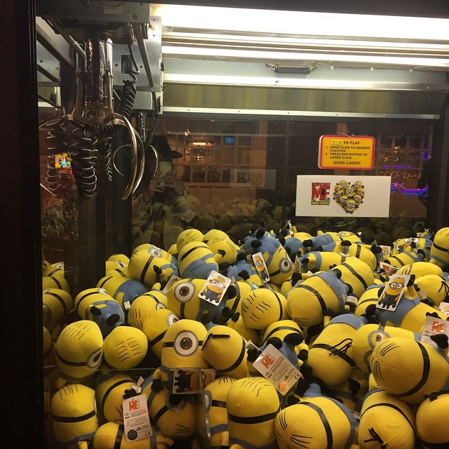 I'm currently building an army of minions #Reno #Minions #roadtrip #pitstop #itssofluffy #takingivertheworld #takemehome #casino