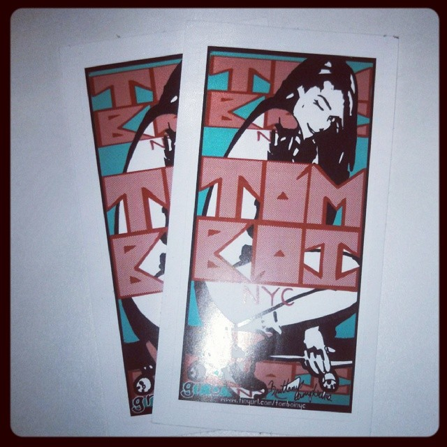 New stickers for #Tomboi.  #GRONYC fundraiser series made possible by #BrittanyCampbell