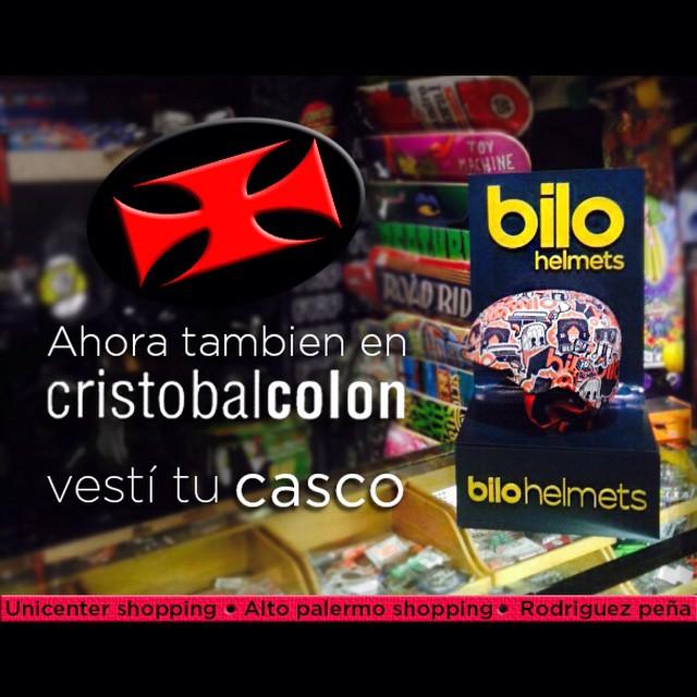 YA NOS PUEDEN ENCONTRAR EN @CristobalColon!!! Consegui tu #bilohelmets en: -