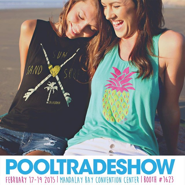 Come see us launch our new SWIM collection at #pooltradeshow next week! #wearthecalidream #seaseekers #magicmarketweek #magic #swim