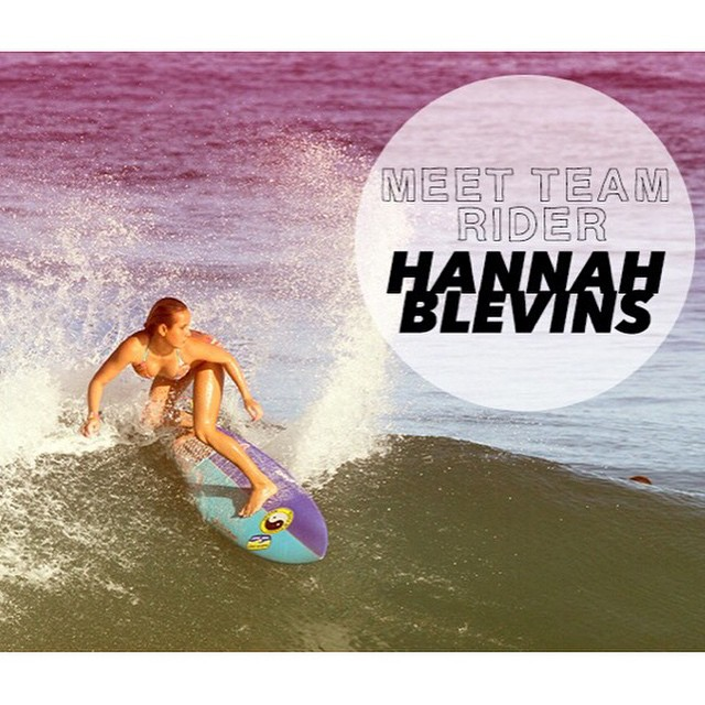 Meet our team rider Hannah Blevins @surfgypsy! Read more about Hannah at www.luvsurfapparel.com #teamrider #wearthecalidream #luvsurf #surfgirl #surf