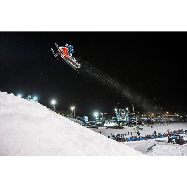 @heathfrisby flew 164 feet, 11 inches to earn his third #XGames gold medal.  Click the link on our profile page to watch him huck it. (