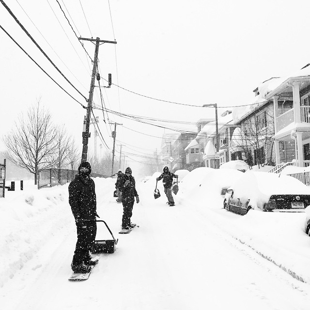 SO MUCH SNOW!!!! #Boston urban trip with some of the boys | #Snowboarding is fun with friends! #SoDamnCold #PowDay